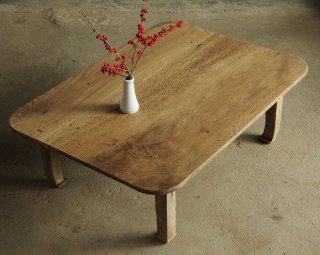ナラ材の座卓/ローテーブル