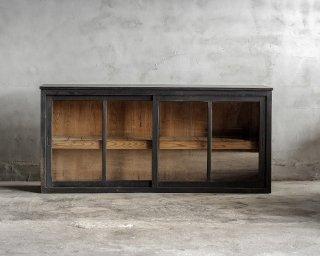 黒色ガラス戸棚/TVボード