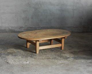 楕円型のローテーブル/ちゃぶ台