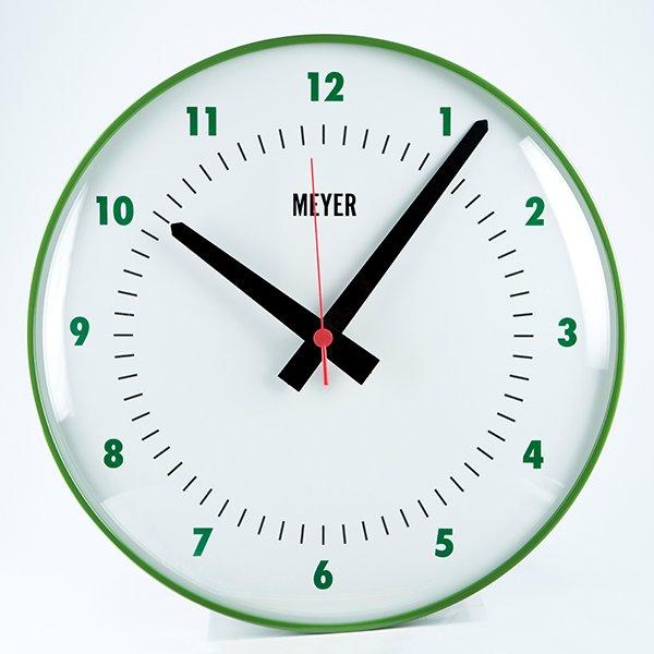 Modern Clock Green Grass
