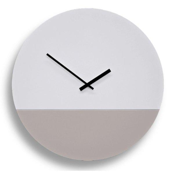 TOO tone Clock トゥー トーン クロック - ホワイト & セメント