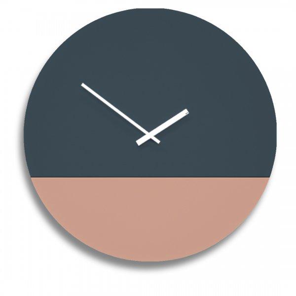 TOO tone Clock トゥー トーン クロック - スレート & サーモンピンク