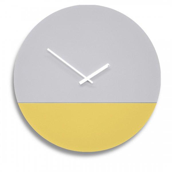 TOO tone Clock トゥー トーン クロック - セメント & レモン