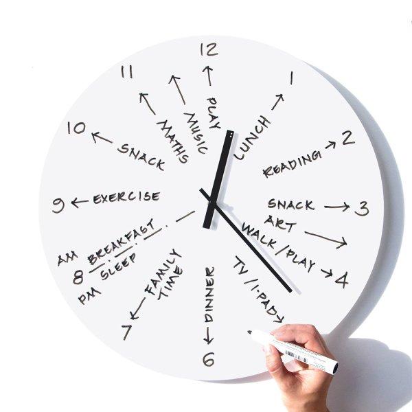 TOO-Do Day planner clock White / トゥードゥー デイプランナー クロック ホワイト