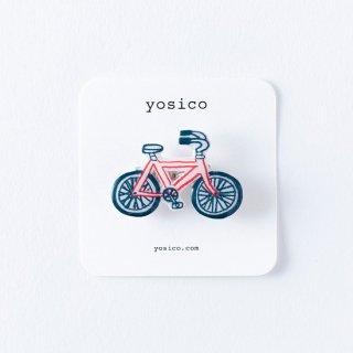 yosico イラストブローチ 自転車