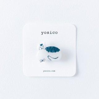 yosico イラストブローチ まるいネコ