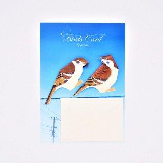 菊地絢女 BIRD CARD スズメA
