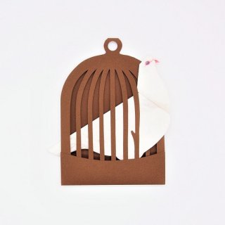 BIRD CARD 白い鳩B