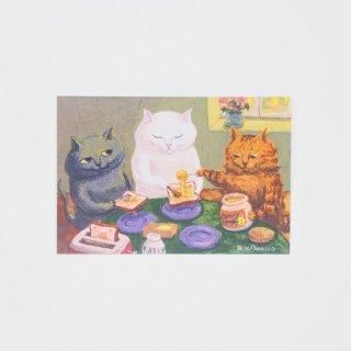 カマノレイコ ポストカード はちみつトースト