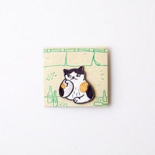 阿猫菜市場 刺繍ブローチ Cat