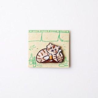 阿猫菜市場 刺繍ブローチ Chubby Tiger