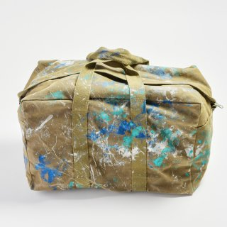 《RIALTO JEAN PROJECT リアルトジーンプロジェクト》MILITARY PAINT DRUMBAG ミリタリーペイントドラムバッグ
