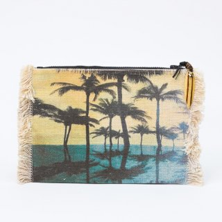 【SPECIAL OUTLET SALE】《MAKASSI マカシ》POUCH ROCK ポーチ ロック コットンポーチ ミニポーチ