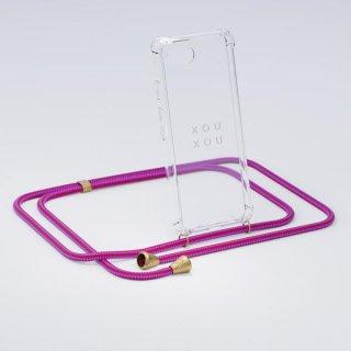 《XOU XOU シュシュ》BASIC NECKLACES ベーシックネックレス iPHONE CASE アイフォンケース スマホケース ネックレス ハンズフリー