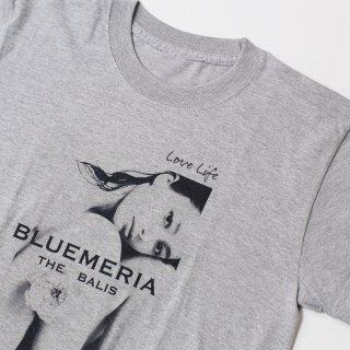 《BLUEMERIA ブルメリア》LOVE LIFE/FRONT Tシャツ フォトTシャツ モデル モノクロ