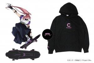 TVアニメ【SK∞ エスケーエイト】ビッグシルエットパーカー Cherry blossom Edition