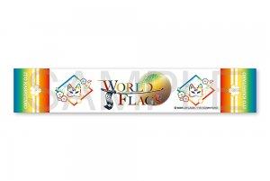 2021年8月下旬より順次発送予定 WORLD FLAGS×伊東歌詞太郎 コラボグッズ マフラータオル