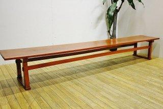 【セール特価】古い木の幅広ローテーブル 送料別 Iサイズ/昭和初期/F2084