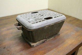 戦時中の小型炭入れコンロ/送料別 Bサイズ/昭和前期/K11652
