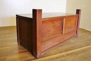 欅杢の小さなローボード アンティーク置床 昭和初期 古録展  送料別 Gサイズ 中古 品番F2844