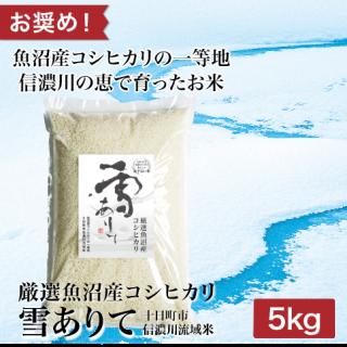 厳選魚沼産コシヒカリ 雪ありて 5kg