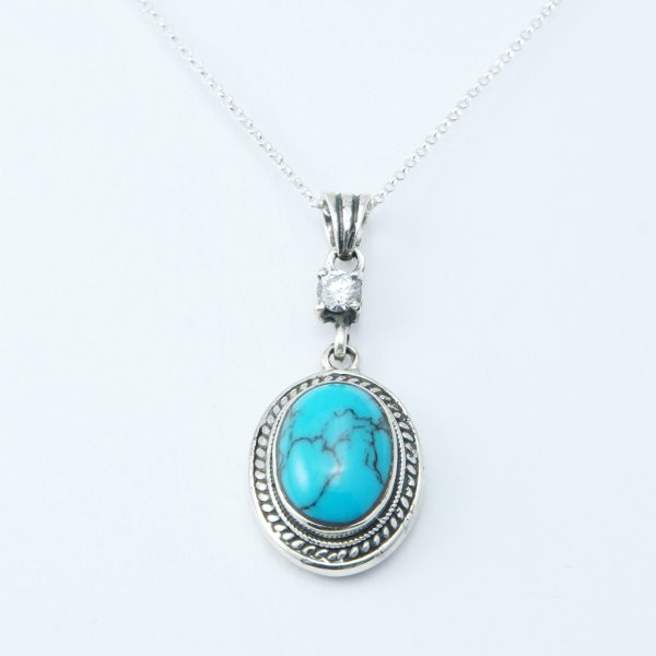 TURQUOISE OVAL