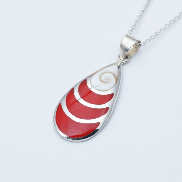 SPOON RED STONE  L