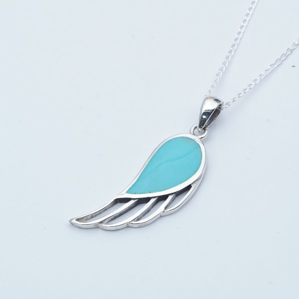 FEATHER LINE TURQUOISE