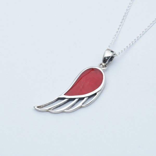 FEATHER LINE RED STONE