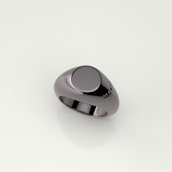 Mayle Round Ring -Black-