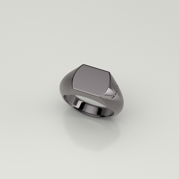 Mayle Square Ring -Black-