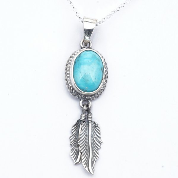 OVAL TURQUOISE with FEATHER