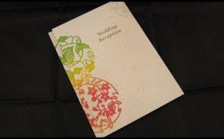 レセプションカード手作りキット-花毬