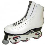 インラインフィギュアスケートセット品 シューズ:NFA(ソフト) ZIRAS   日本サイズ白/黒21�から29�まで