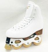 インラインフィギュアスケートセット品 シューズ:ANTARES(硬さ35/freestyle1-2) 日本サイズ白19�〜25.5�/黒19�〜24�