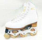 ★SALE★インラインフィギュアスケートセット品 シューズ:SPLENDID GOLD(初級者向け)  GRAF 白/黒 日本サイズ19cm〜28cm(0.5cmきざみ)