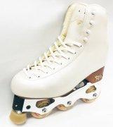 インラインフィギュアスケートセット品 シューズ:GIADA(硬さ35/freestyle1) 日本サイズ白(20�〜26.5�)/黒(20�〜29�) RISPORT
