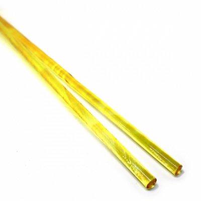 《店舗生徒価格》【C17-o】ガラスロッド(クリアオレンジ色アルカリシリケートガラス)100g