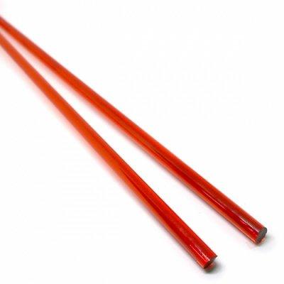 《店舗生徒価格》【C18-r】ガラスロッド(クリア赤色アルカリシリケートガラス)100g
