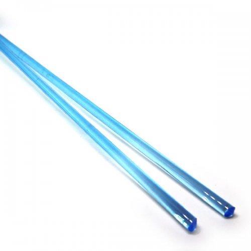 《店舗生徒価格》【C19-b】ガラスロッド(クリア水色アルカリシリケートガラス)100g