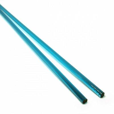 《店舗生徒価格》【C21-b】ガラスロッド(クリア青緑アルカリシリケートガラス)100g