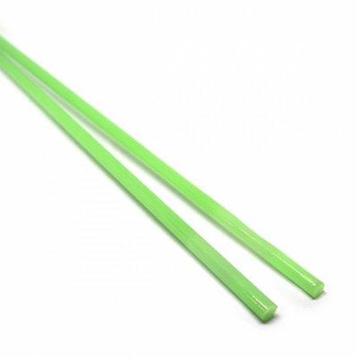 【C40-g】ガラスロッド(乳白黄緑アルカリシリケートガラス)100g