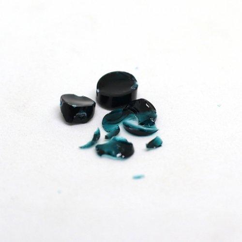 《特別価格》【CS12-b2】ガラスロッド(クリア濃青緑アルカリシリケートガラス)100g