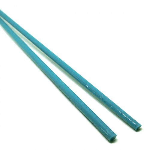【CX133】ガラスロッド(水色アルカリシリケートガラス)100g