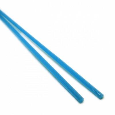 《特別価格》【A53】ガラスロッド(乳白青クリスタル(鉛)ガラス)100g