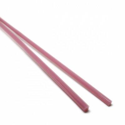 【A125】ガラスロッド(乳白薄赤紫クリスタル(鉛)ガラス)100g