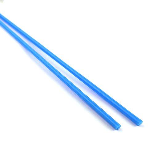 【CX184】ガラスロッド(乳白青アルカリシリケートガラス)100g