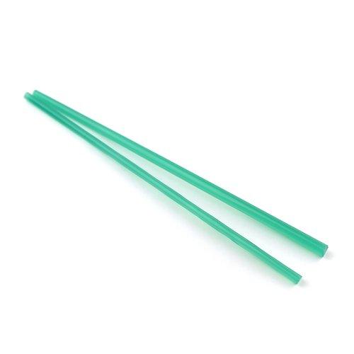 《廃番》ハーフサイズ【CX74】ガラスロッド(半透明緑アルカリシリケートガラス)100g