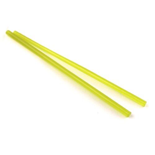 《廃番》ハーフサイズ【CX99】ガラスロッド(半透明黄緑アルカリシリケートガラス)100g