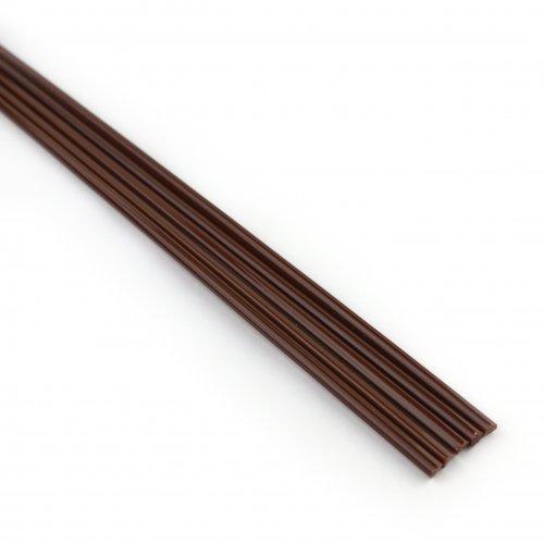 【CX191】ガラスロッド(赤茶アルカリシリケートガラス)100g